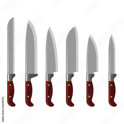 quot kitchen knife collection vector quot stock image and royalty