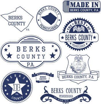 generic stamps and signs of Berks county, PA