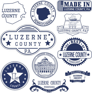 generic stamps and signs of Luzerne county, PA