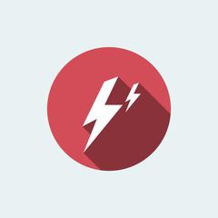 thunder icon. flat style