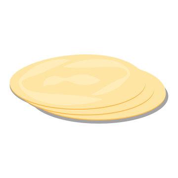 Tortillas, pita. Bread vector