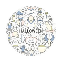 Vector Web Banner or Emblem Halloween