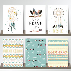 Card template collection for banners,Flyers,Placards with wreath