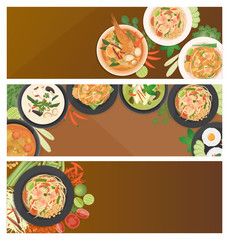 Thai food banner template