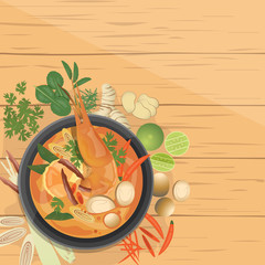 Tom Yam Goong, Asian food ,Thai dish, ingredients