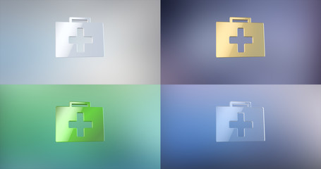 First Aid Medical Kit 3d Icon