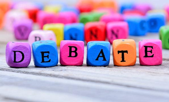 Debate word on table