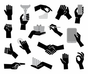 Hands. Flat business symbol