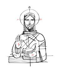 Jesus Christ and religious symbols