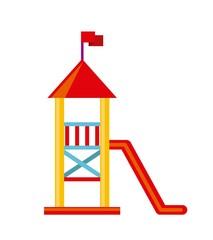 beautiful children playground icon vector illustration design