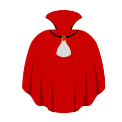 Red cape Dracula isolated. mantle Vampire white background. Myth