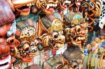 Famous mask souvenirs at Ubud Market