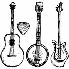 banjo stock photos and royalty free images vectors and Banjo Head guitar plectrum guitar and banjo