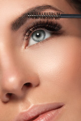 Beautiful woman with eyelash extension