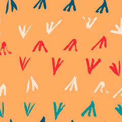 Seamless abstract hand drawn brushstroke pattern texture. Simple modern geometric chevron print in vector. Hipster stylish pattern.
