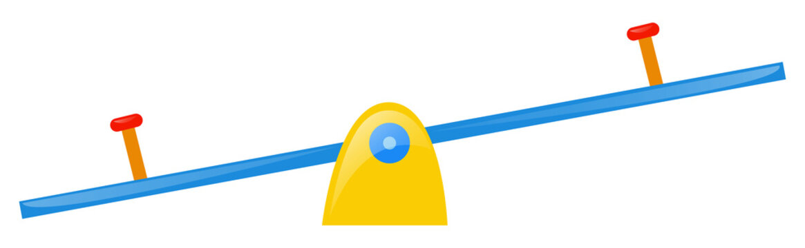 Seesaw on white background