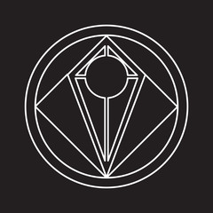 Alchemical round vector.