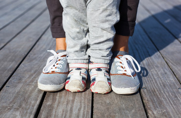 Lifestyle concept. Parent and child together.