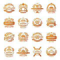 Bakery badge and logo icon