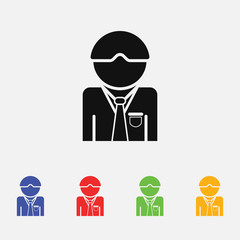 Manager vector icon. flat style