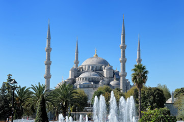 View of Sultan Ahmed Mosque the Blue Mosque, Istanbul Turkey
