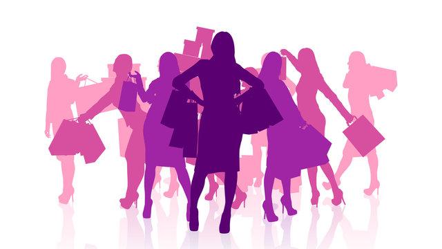 female shopping set