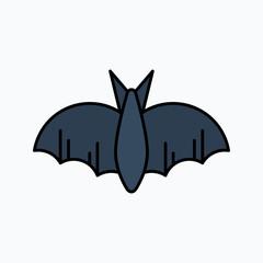 bat silhouettes - Halloween vector illustration. Icon