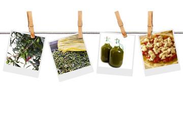 Fototapete - Raccolta olive e produzione olio d'oliva