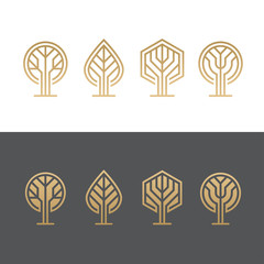Abstract tree logos