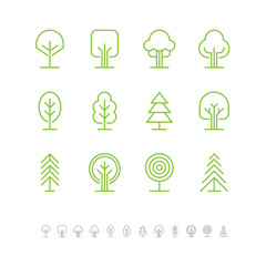 Tree icons set 1