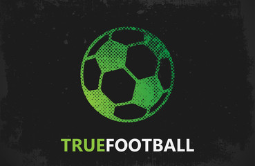 Football logo. Ball logo design. Football ball design