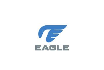 Eagle Logo abstract design vector. Falcon Hawk bird Airlines