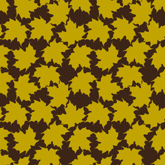 Vector background from maple leaves
