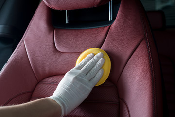 Car detailing series : Cleaning red seats