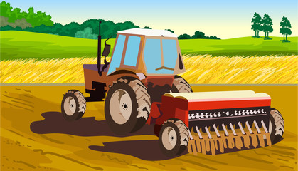 agriculture, tractor