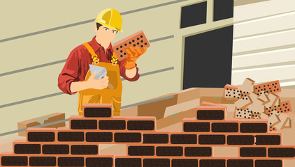 Work with a brick