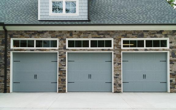 Residential house car garage doors