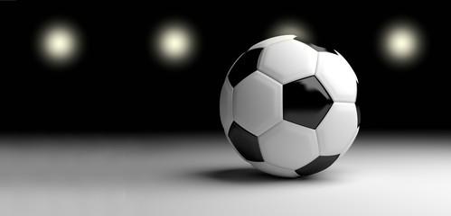 football soccer ball 3d render design image