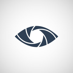 Eye Shutter Vector Logo Design Template