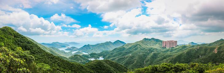 Panorama Mountain Landscape of Hong Kong south