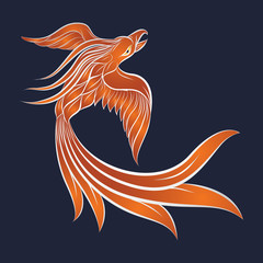 phoenix logo vector icon design