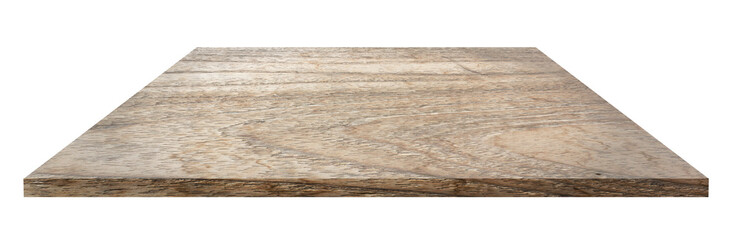 wooden shelf isolate on white
