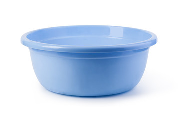 blue plastic wash bowl Fototapete