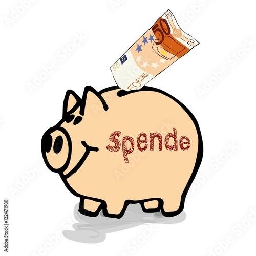 Spendendose Geldschwein Spardose Sparschwein Sparbuchse Mit 50 Euro
