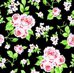 Rose flower pattern