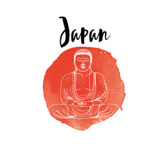 Hand drawn Japan