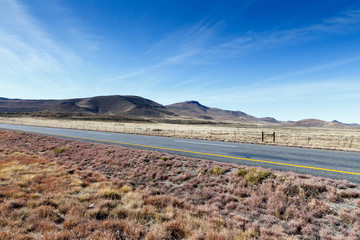 The road on the way to the mountains in Graaff-Reinet