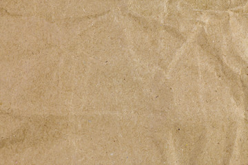 Brown recycle crumpled paper background, Brown paper textures fo