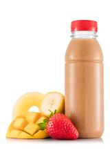 Multifruit smoothie in plastic bottle