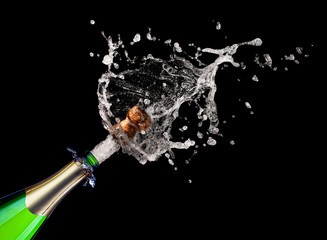 champagne explosion background